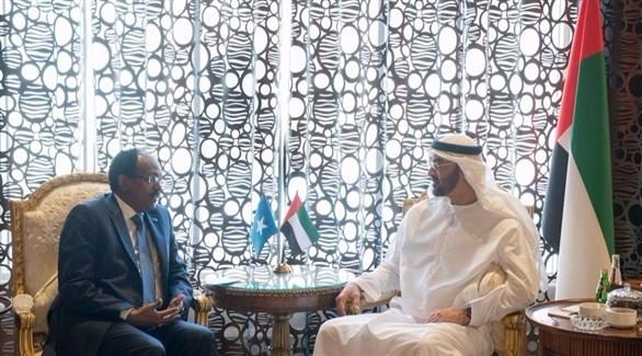 محمد بن زايد  يبحث مع الرئيس الصومالي العلاقات الثنائية ومحاربة الإرهاب