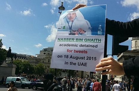 حملة في لندن لمطالبة الإمارات بالإفراج عن عالم الاقتصاد ناصر بن غيث