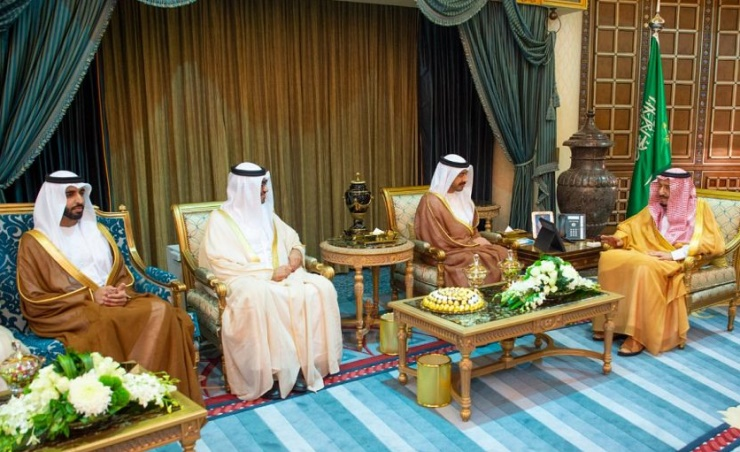 الملك سلمان يبحث مع وزير الخارجية الإماراتي الاهتمامات المشتركة