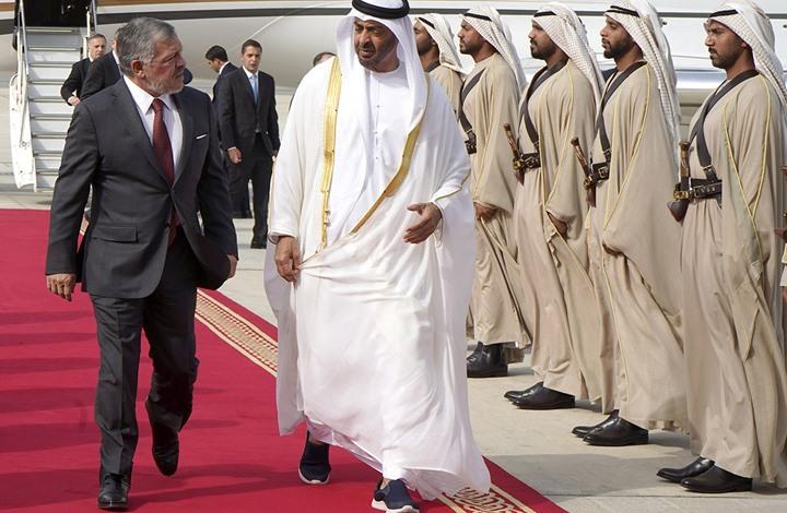 محمد بن زايد يبحث مع ملك الأردن في أبوظبي العلاقات بين البلدين