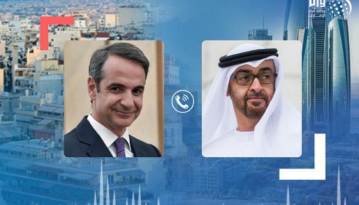 محمد بن زايد يبحث مع رئيس وزراء اليونان التطورات في منطقة البحر المتوسط