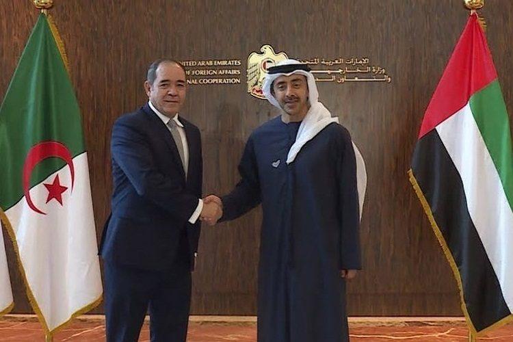 عبدالله بن زايد يبحث مع وزير الخارجية الجزائري الأزمة الليبية ويدعو